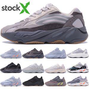Nouvelle arrivée Stockx 700 Kanye West Carbon Sarcelle 3M réfléchissant Homme Femme Inertie Hôpital Bleu Vanta Utility Noir Designer chaussure Runnining