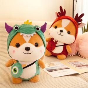 Soft Lovely Cartoon Moose Plush Toys, Kid Sleep Pillow,Heal The Department of Animal Dolls for Christmas Children Gift CX200606