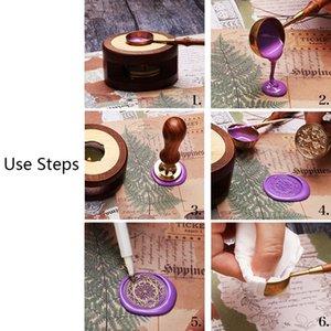 Bollo dell'annata Wax Seal Beads Sticks Sticks un aumento della temperatura di fusione a cera Colla Fornace strumento stufa pentola per il sigillo di cera di candela Stamp 72XF