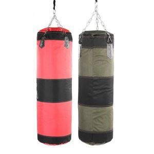 Empty Boxing Sand Bag Hanging Kick Sandbag Boxing Training Fight Karate Punch Punching Sand Bag With Metal Chain Hook