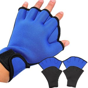 1pair Water Sports Swimming Gloves Aquatic Fitness Paddle Fingerless Mitten Hand Tool Gloves for Swimming Resistance Training