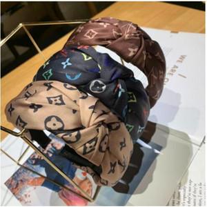 Fascia del fiore Vintage annodata la fascia dei capelli per le donne di moda INS ragazze coreane Accessori per capelli Fata semplici righe Hairband 4 stili