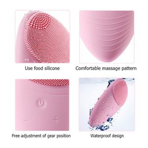 Face Cleaning Brush Mini Electric Silicone Face Massage Waterproof Washing Machine Sonic Vibracion Deep Pore Cleaner Tools