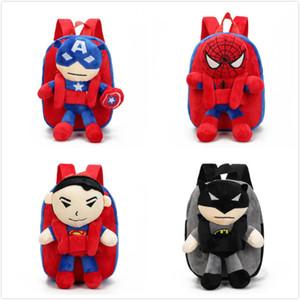 3D Avengers Peluş Sırt Oyuncaklar çocuklar için Yeni Ironman Superman Spiderman bebek peluş schoolbag mochila çocuklar çanta