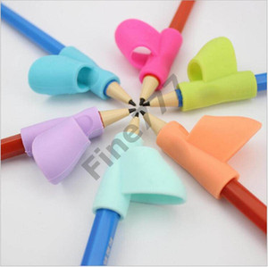 Writing Aid Grip Posture Correction Tool Young Children's Finger Grip Children Colorful Pencil Holder Pen Silicone pen holder