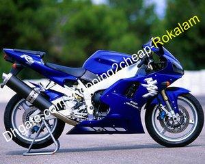 Parte da motocicleta Para Yamaha YZFR1 1998 1999 carenagens YZF R1 YZR1000 R1 98 99 Azul carroçarias carenagem (Injecção)