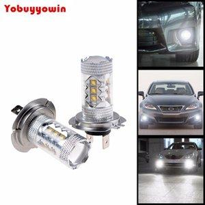 2pcs Melhor alta qualidade H7 80W Canbus erro LED de alta potência 6000K carro branco de nevoeiro luzes de condução lâmpadas DRL luz de circulação diurna