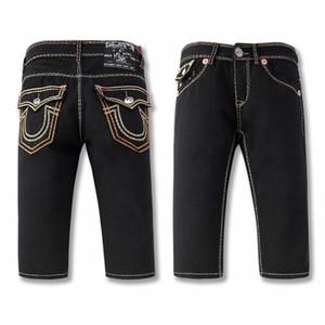 USA Brand Jeans Shorts TR vero cotone diritte pantaloncini casuale uomini di Grandi Dimensioni religione convinzione linea spessa stirata Pantaloncini di jeans