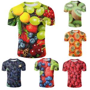 Mens casuale di estate 3D T-shirt Fruit Stampa Raffreddare Maniche corte estiva Tees maschile manica corta Streetwear Hip Hop Tops