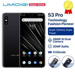 "UMIDIGI S3 PRO ceramica 6GB 128GB Helio P70 Android 9.0 6.3"" FHD + 48MP + 12MP Torna telecamere 20MP fotocamera selfie 5150mAh Smartphone"