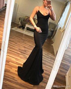 Сексуальная Русалка Черные Длинные Африканские Платья Выпускного Вечера На День Рождения Коктейльные Платья 2018 Ливана Дешевые Вечерние Платья