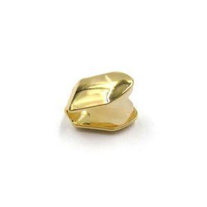 Одно золото зубы Grillz Искусственный гальванических Золотой Зуб Рукав Hip Hop Party Supplies Аксессуары для взрослых Популярные Design 2 9jaH1