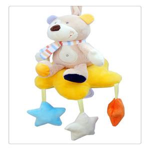 동물 유모차 어린이 침대 유모차 유모차 뮤지컬 인형 유모차 부품에 대한 봉제 장난감 아기 선물로 교수형