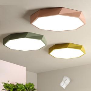 Personalidad Luces de techo Macaron cinco colores Iluminación interior Lámpara de techo Accesorio para sala de estar Dormitorio solo altura 6 cm - I112