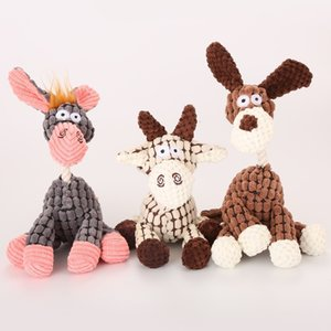 New High Quality Creative 3 Kinds of Style Pet Dog Toy Plush Donkey Molars Chew Plush Toy Supplies Free Shipping