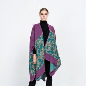 2018 осень зима новый европейский и американский уличный ветер камуфляж расколоть платок теплый дизайнер роскошный шарф леди подарок 160 * 130см