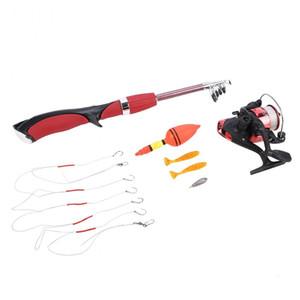 Fishing Rod Reel Tack Set Rod Combo Lure Hook Ice Fishing Spinning Reel Telescopic Rod Pole Gear Kit Fishing Pesca Accessories