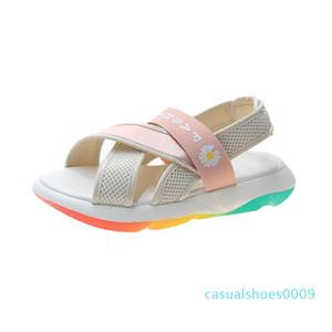 Summer Women Platform Sandals Chunky Designers Woman Block Heel Shoes Casual Flower Fashion Beach Open Toe Pink Gladiator Sandal c09