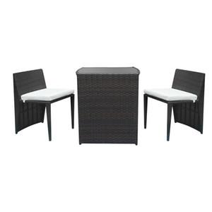 SONYI Outdoor Patio Furniture Sets 3pcs,плетеные стулья из ротанга с настольной бежевой подушкой, современная садовая мебель для веранды AllWeather Converstation