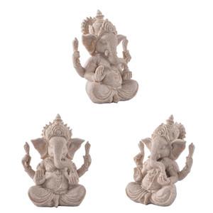 3x grès Ganesha Statue Inde Seigneur Ganesha Elephant Dieu pour Aquarium Décoration de table