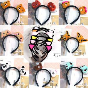 Halloween Weihnachten Geburtstag Dekorationen nette Katze-Ohr-Stirnband-Carton-Stirnband Stirnband für Kinder Erwachsene Mädchen Haarschmuck 18 Styles