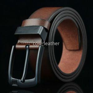 2019 Pin Buckle Flag belts Fashion New Arrival designer Black leather belts for men Luxury leather Mens Belt male ceinture
