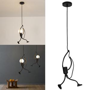 Moderna y encantadora lámpara colgante de araña de hierro creativo lámpara elegante suspensión luminaria altura ajustable 220-240V 2019