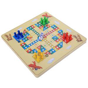 2 in 1 magnetisches Labyrinth mit fliegendem Schach Doppelseitiges Labyrinth Labyrinth pädagogisches interaktives Spielzeug, Bauernhof