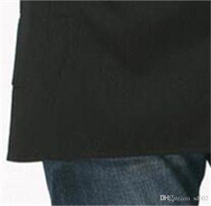 La metà Panno Cameriere bicchierino della vita Tether Grembiule fibra di poliestere Pinafore Cameriera Con Pocket Kitchen Cafe Bar Pure Color 5 1lgb1