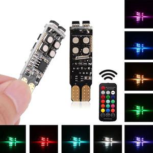 Luces LED para automóviles Bombillas LED RGB con control remoto Luz estroboscópica LED Luz de lectura Luces blancas Fuente de iluminación interior Car Styling 12V