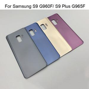 Para samsung galaxy s9 g960f / s9 além de g965f bateria de volta tampa traseira da porta de vidro habitação substituições para samsung s9 tampa da bateria