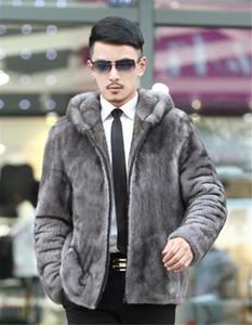 Les hommes Designer en fausse fourrure Manteaux d'hiver épais à manches longues Slim capuche Hommes Vêtements Casual Male Outerwears