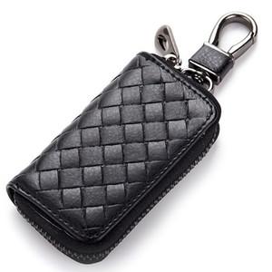 Fashion knitting Genuine Cow Leather Men & Women Car Key Bag Wallet Multi Function Key Case Housekeeper Holders Key Wallet