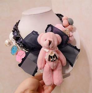 N102 Oso Spagnolo Orso Jewlery del progettista di marca famosa Nuovo 2019 Gioielli Collane Colliers Maxi Breve Big Bijoux collane per le donne