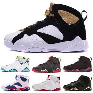 Hot Sale Kinder 7s Jumpman 7-Kind-Basketball-Schuhe Reines Geld Hase Hase Raptor Französisch Blau Bordeaux Hot Verde Kleinkind-Sport-Turnschuhe