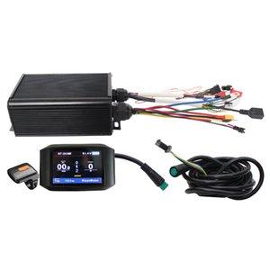 Función ebike exclusivo y personalizado 48V 60V 72V 45A Controlador Programable 1500-2200W Reg con color 750C Display