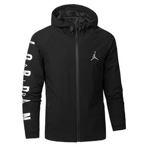 De nouvelles vestes pour hommes Automne Printemps Sport coupe-vent Lettre Imprimer Manteau Zipper Casual vêtement gros Veste Active Running JN52019