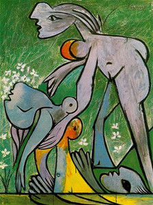 Pablo Picasso Peinture à l'huile classique Le Surréalisme Rescue 100% fait main par le peintre expérimenté sur blanc Toile Picasso869