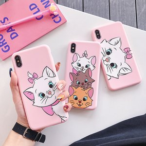 Aristocats Cartoon Tsundere Marie Cat Case For iPhone X Xs XR Max 7 8 6 6s Plus Cute kitten Pink Silicon Soft TPU Cover Capa