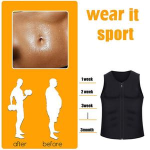 Homens Corpo Shaper Emagrecimento Cintura Corset Barriga Envoltório Tops Esporte Queimador de Gordura Sauna Vest