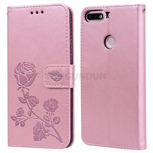 """For Huawei Honor 7C Case Protection Stand Style PU Leather Flip Back Cover For Huawei Honor 7 C Phone Wallet Funda Capa Bag 5.7"""""""