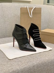 Новые высокой пятки ботильоны осенние и зимние сапоги из воловьей кожи с кристаллами Сваровски для женщин с заостренными каблуками