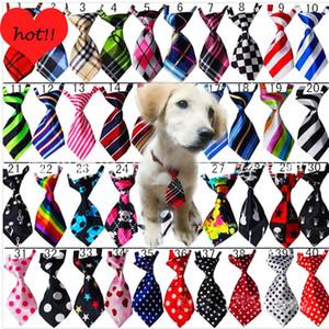 Cat Dog Fashion ajustável Tie Pet Pet Puppy Toy Grooming Bow Gravata do laço roupas filhote de cachorro vestido acima gravata Decoração Pet Shop DBC DH2513