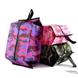 Portáteis Sapatos Bolsas Camouflage Folding Waterproof Viagem Wash Bag Mobília pó de acabamento Início Sundries Bolsas Cosmetic Bag LXL656-1