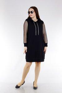 Schier 1478 черного кружева платье дамы Большой размер Рукоятки Корабль из Турции в 2268