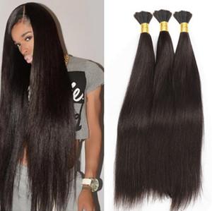 Бразильские волосы навалом для плетения нет утка 8а бразильские волосы для микро мини плетение навалом волос