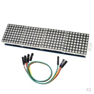 2x MAX7219 seriale a matrice di punti 8x8 Modulo Display / 4 in 1 per LED Pi