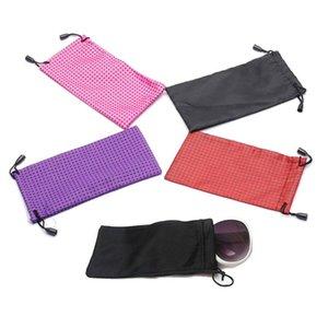 1Pc пылезащитные пластиковые очки Чехол для солнцезащитных очков Мягкие ткани пыли Чехол Оптические очки сумка для переноски Прочный водонепроницаемый чехлы