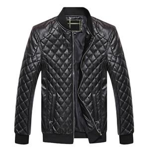 Erkek Deri Ceket Sonbahar Kış PU Coat Erkekler Artı Kadife Kabanlar Biker Motosiklet Erkek Klasik Siyah Ceket M-4XL