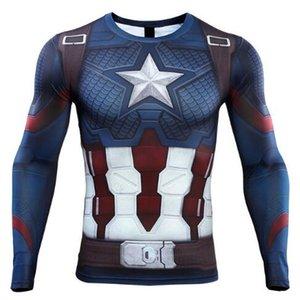 جديد 3d كابتن أمريكا t-shirt تأثيري المنتقمون نهاية لعبة كابتن أمريكا زي المنتقمون 4 ستيف روجرز القمصان الرياضية ضيق تيز